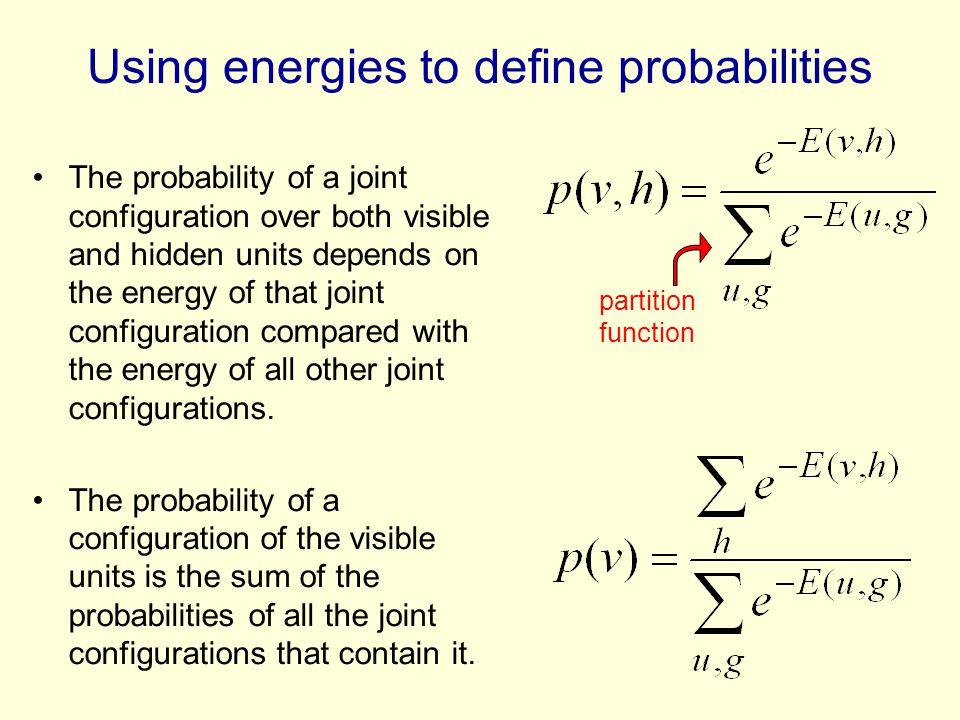 Using energies to define probabilities