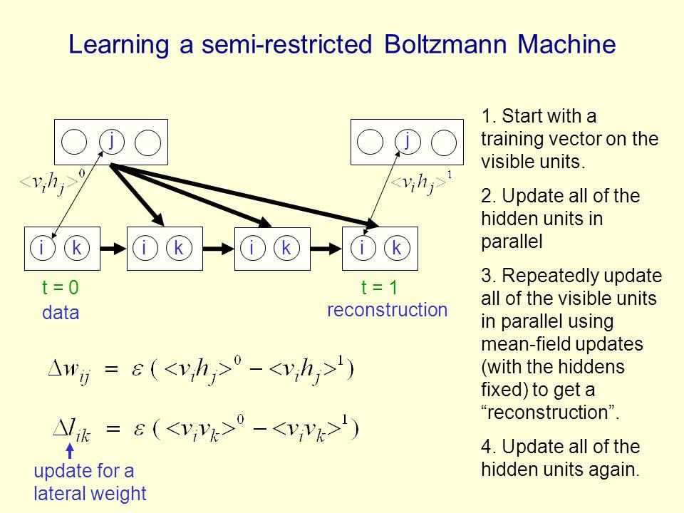 Learning a semi-restricted Boltzmann Machine