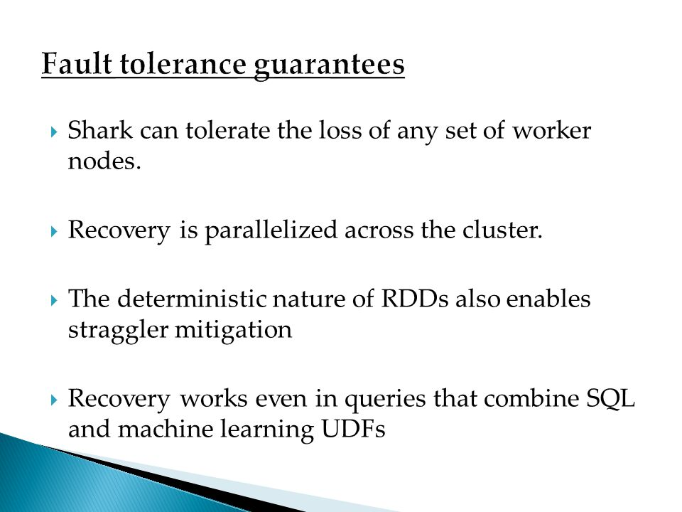 Fault tolerance guarantees