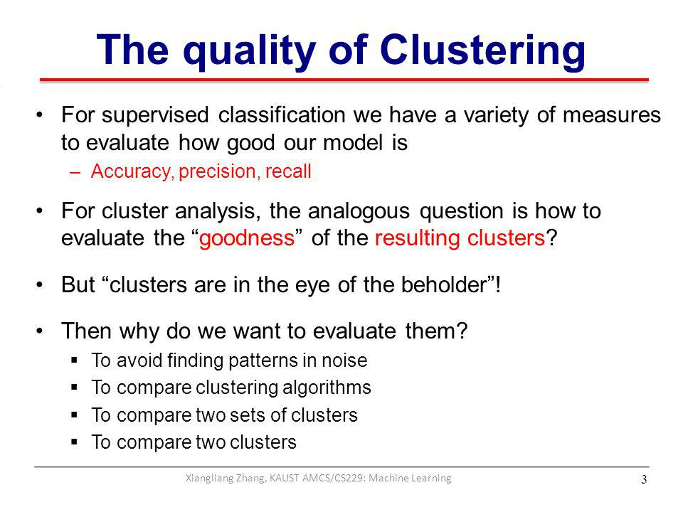 The quality of Clustering