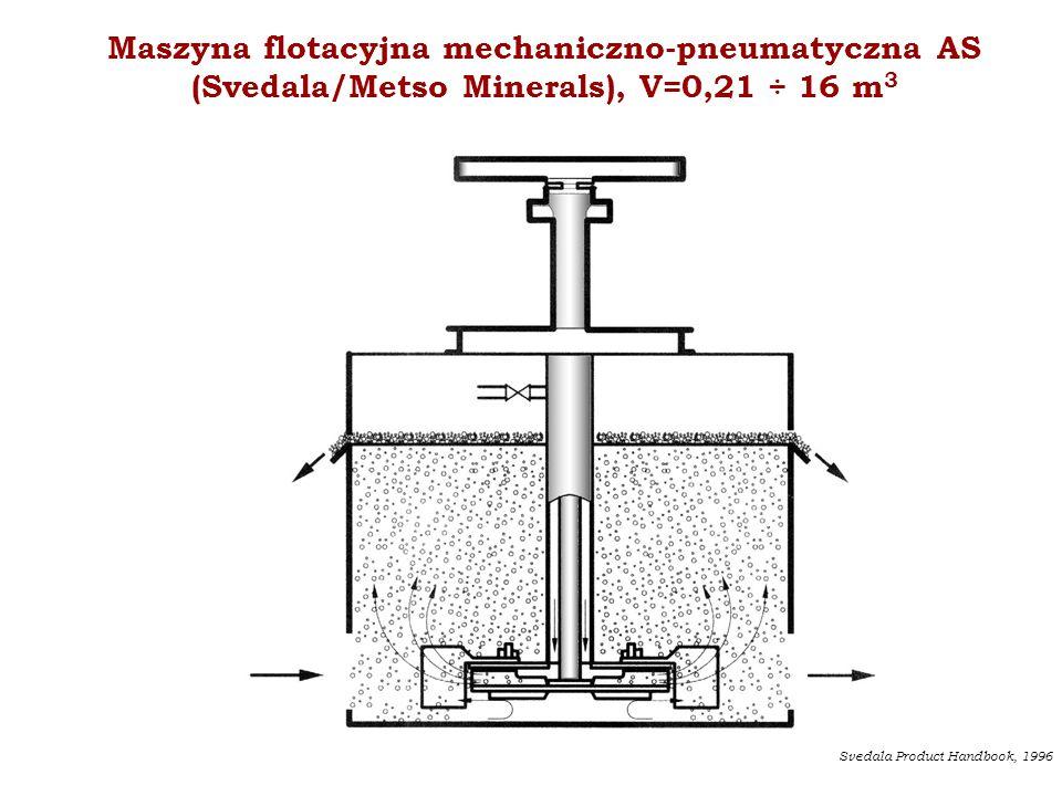 Maszyna flotacyjna mechaniczno-pneumatyczna AS (Svedala/Metso Minerals), V=0,21 ÷ 16 m3