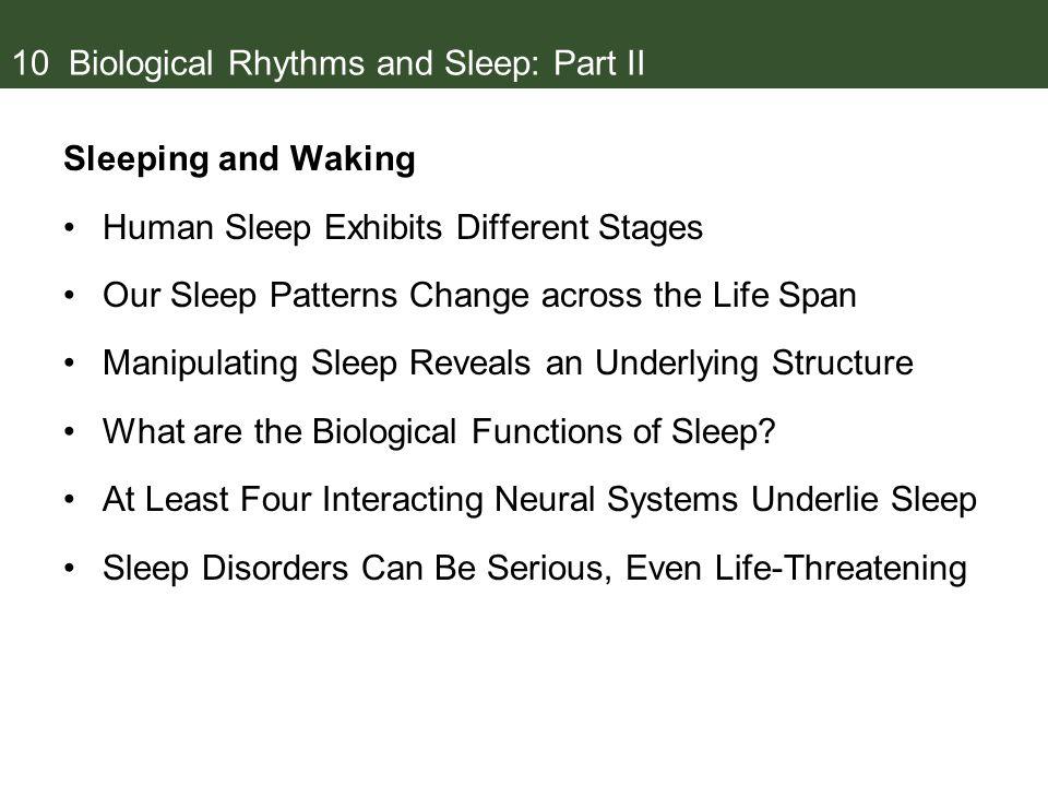 10 Biological Rhythms and Sleep: Part II