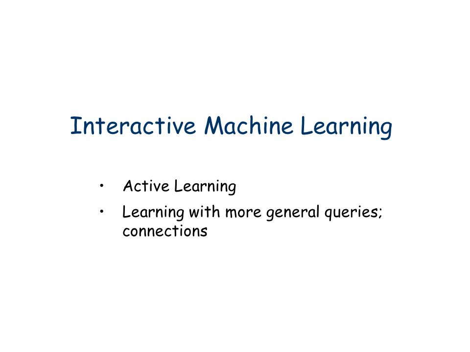 Interactive Machine Learning