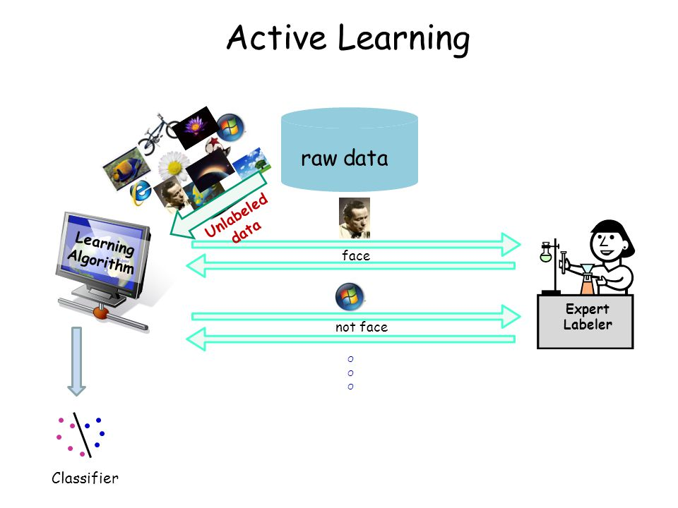 Active Learning raw data 16 Unlabeled data Learning Algorithm