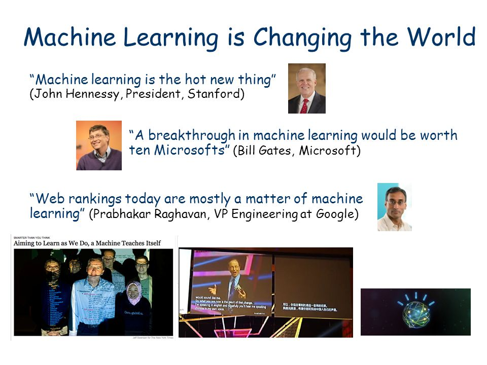 Machine Learning is Changing the World