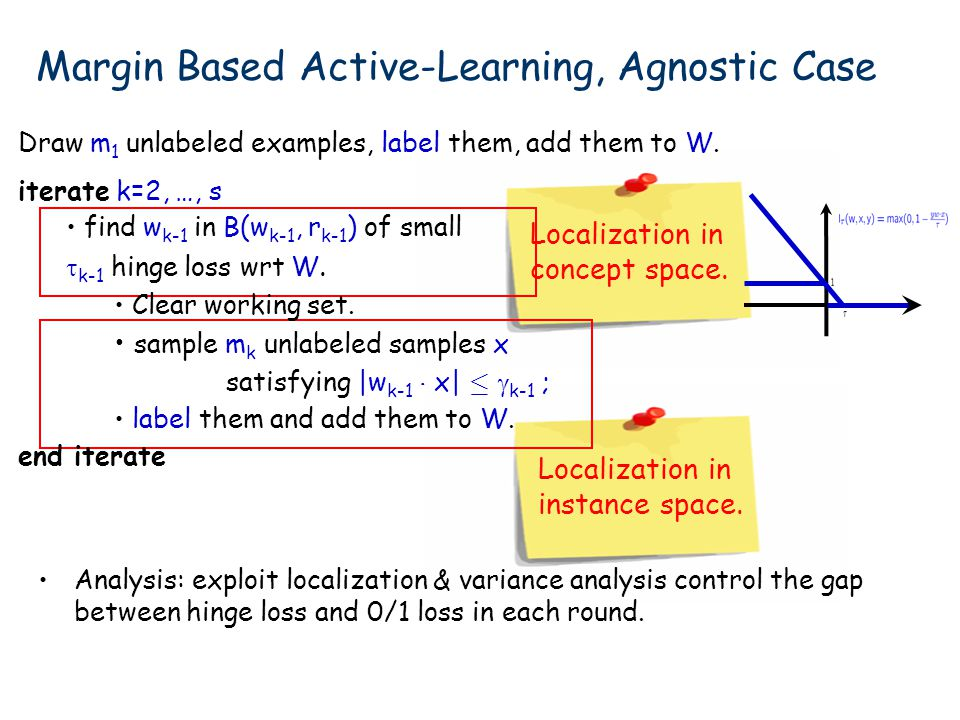 Margin Based Active-Learning, Agnostic Case
