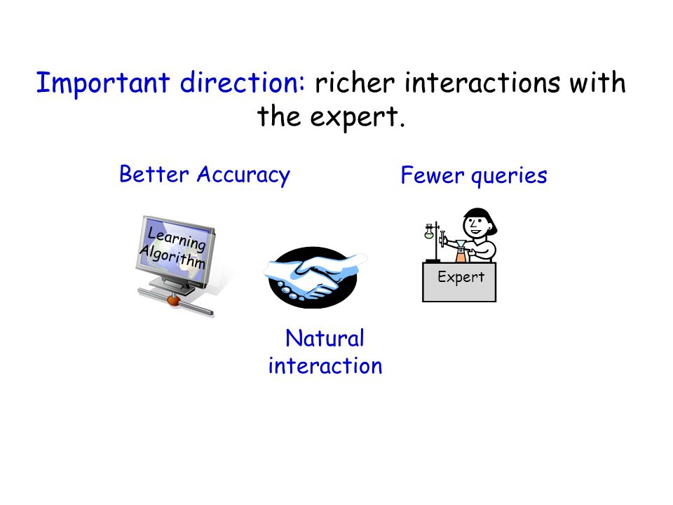 Important direction: richer interactions with the expert.
