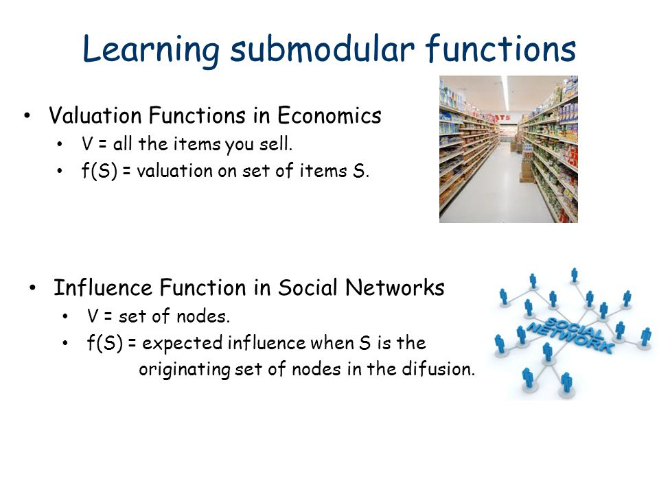 Learning submodular functions