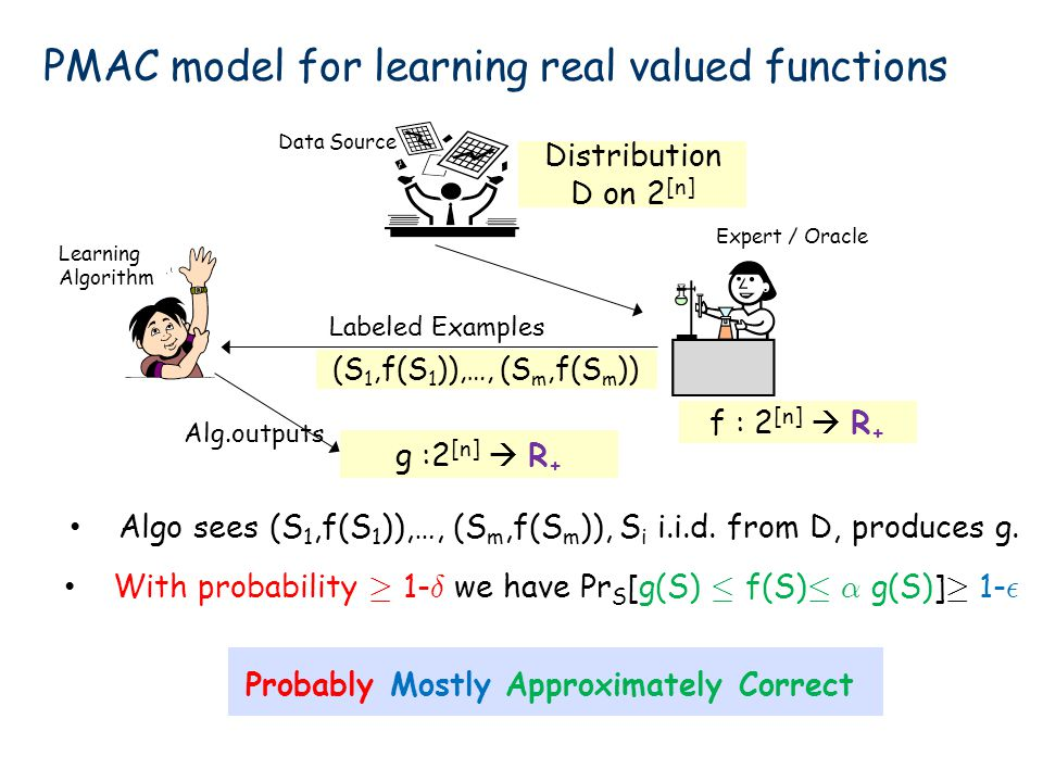 PMAC model for learning real valued functions