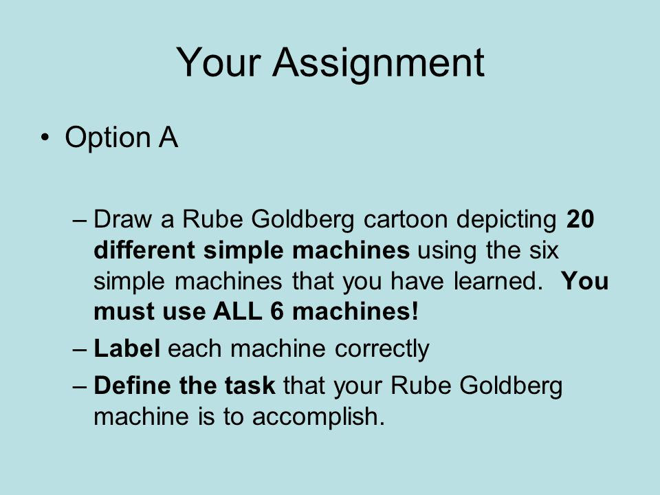 Your Assignment Option A