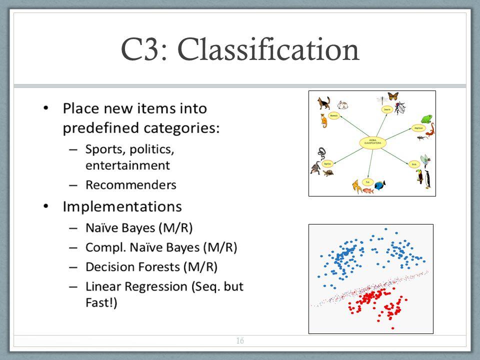 C3: Classification
