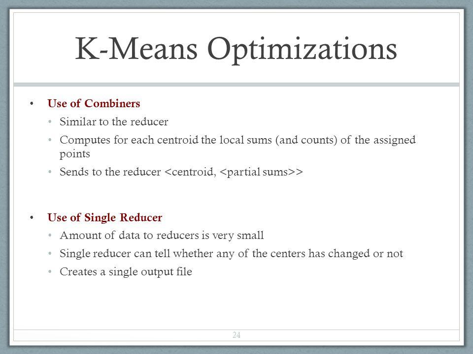 K-Means Optimizations