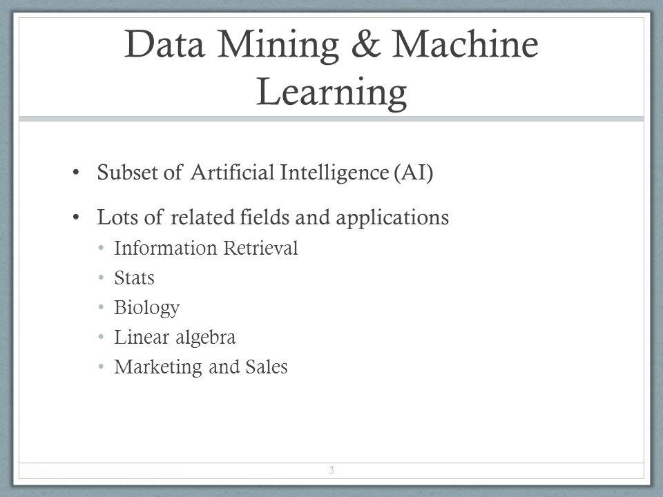 Data Mining & Machine Learning