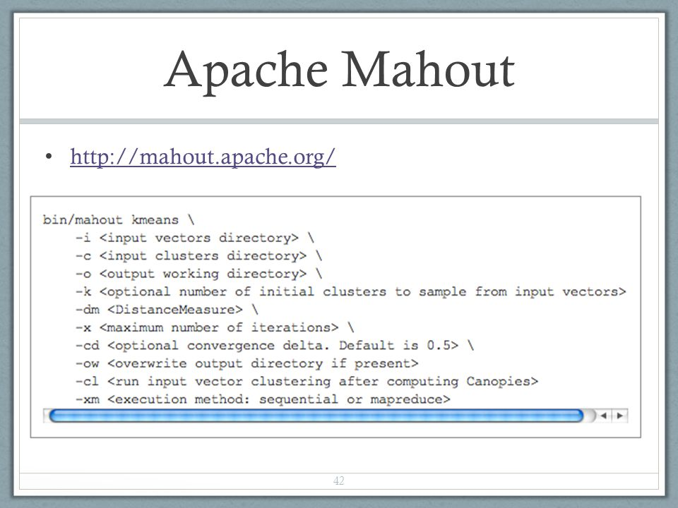 Apache Mahout http://mahout.apache.org/
