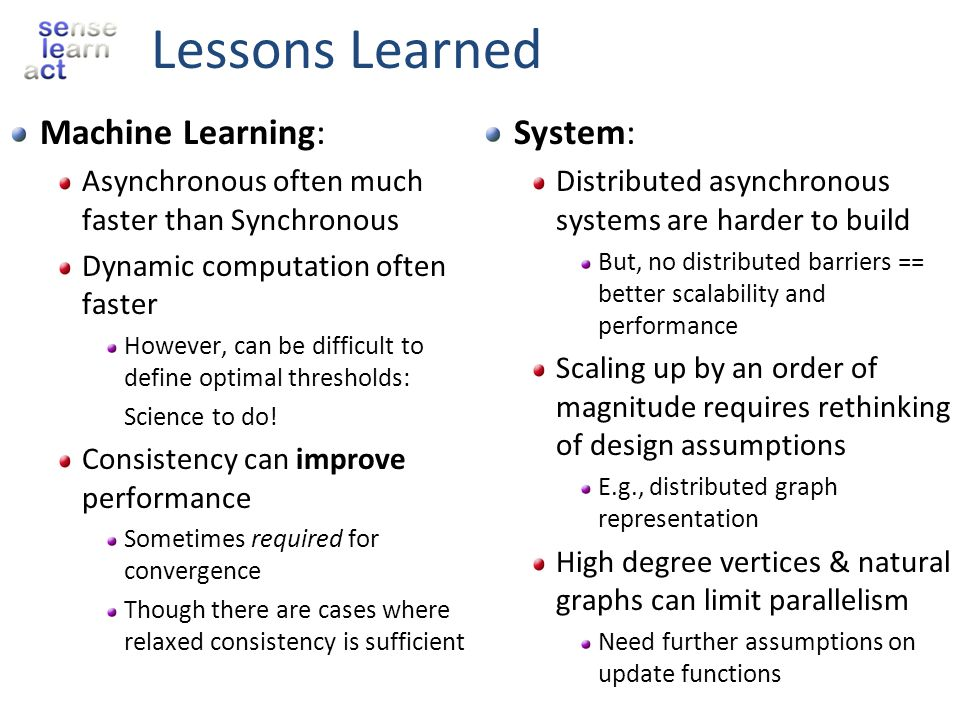 Lessons Learned Machine Learning: System: