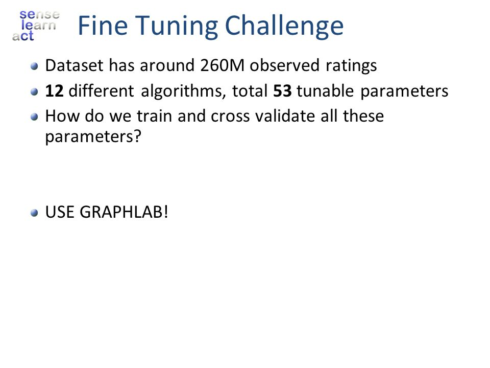 Fine Tuning Challenge Dataset has around 260M observed ratings