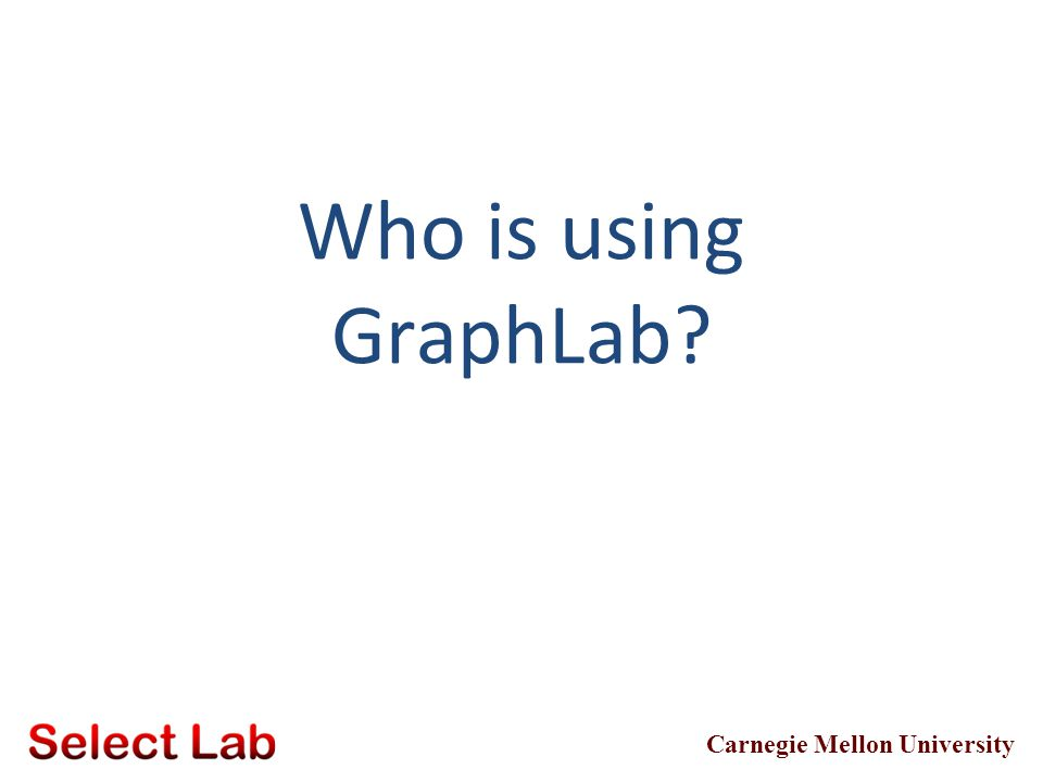 Who is using GraphLab