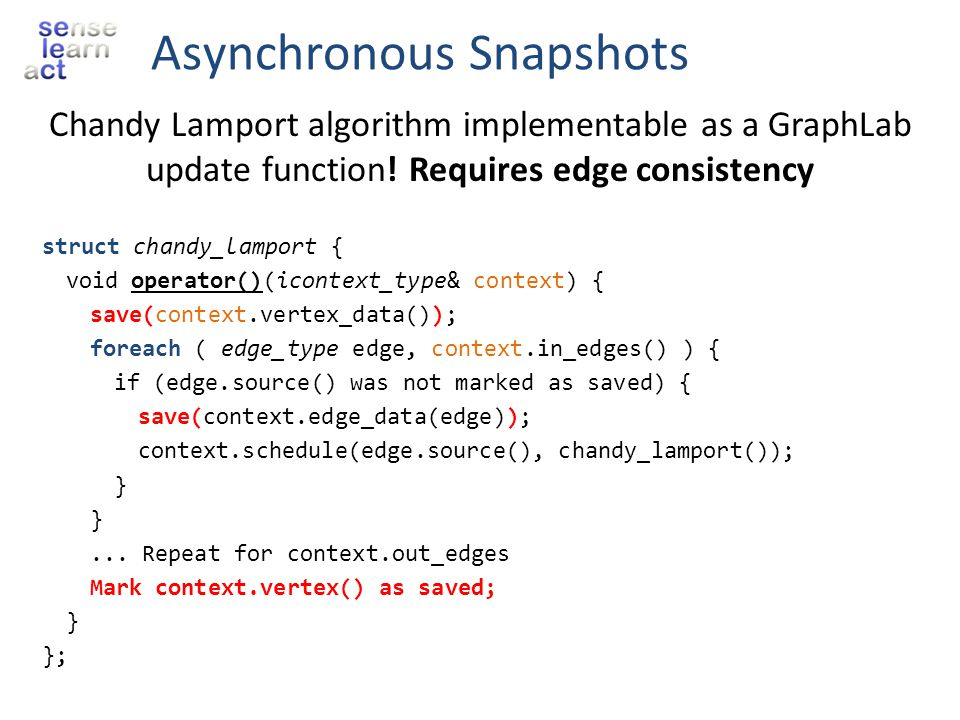 Asynchronous Snapshots