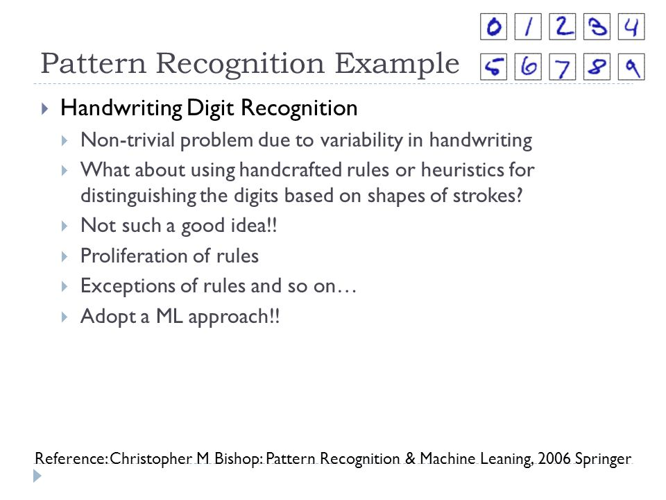 Pattern Recognition Example