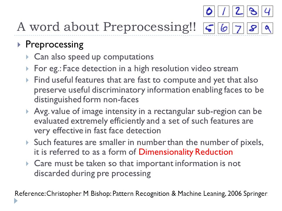 A word about Preprocessing!!