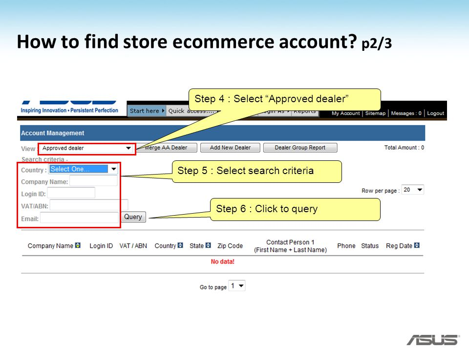 How to find store ecommerce account p2/3