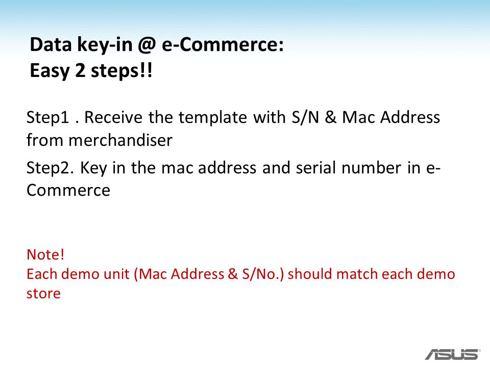 Data key-in @ e-Commerce: Easy 2 steps!!