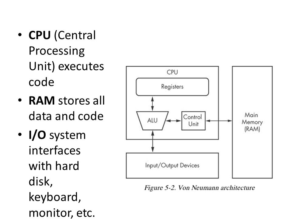 CPU (Central Processing Unit) executes code