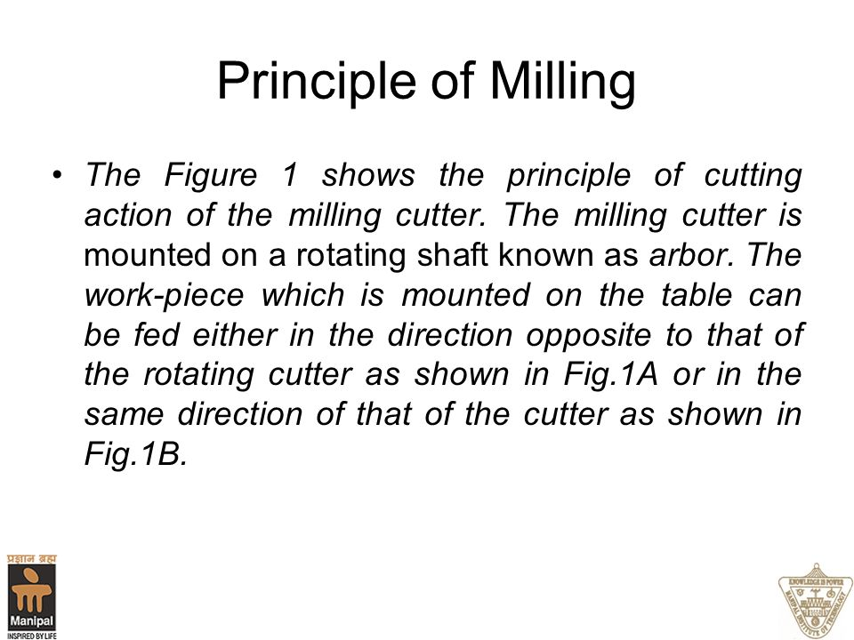 Principle of Milling