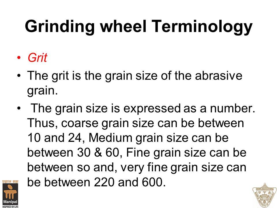Grinding wheel Terminology