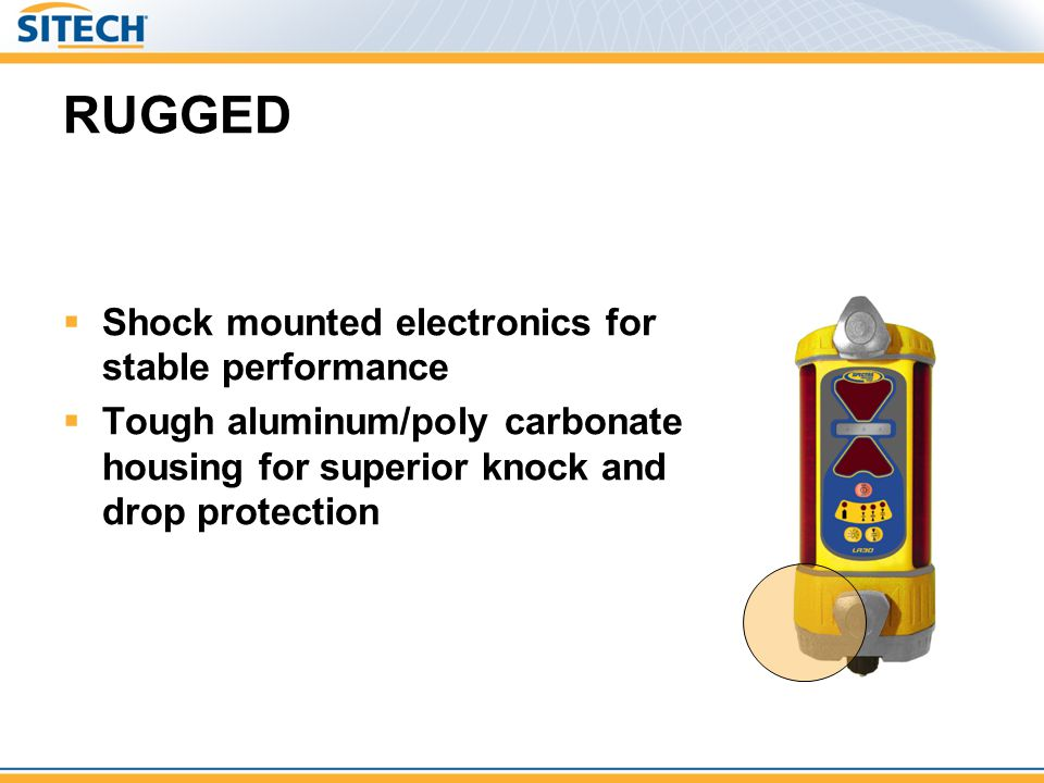 RUGGED Shock mounted electronics for stable performance