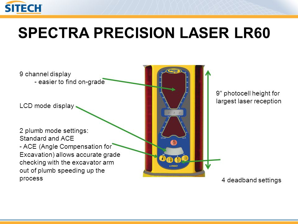 SPECTRA PRECISION LASER LR60