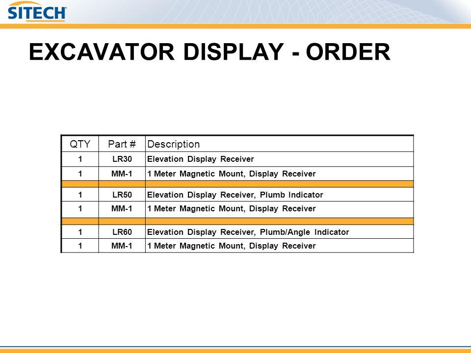 EXCAVATOR DISPLAY - ORDER