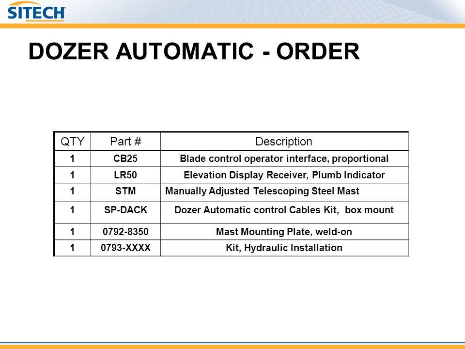 DOZER AUTOMATIC - ORDER