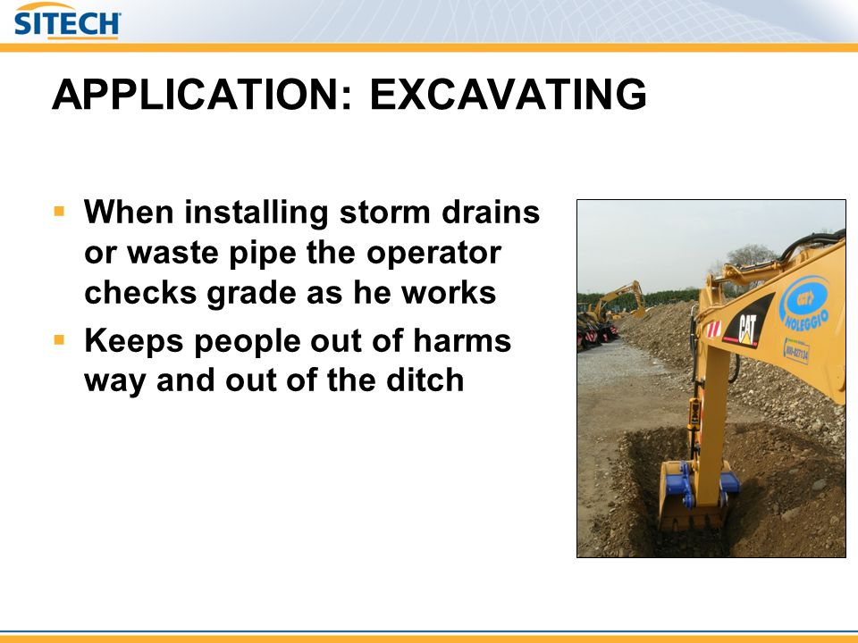 APPLICATION: EXCAVATING