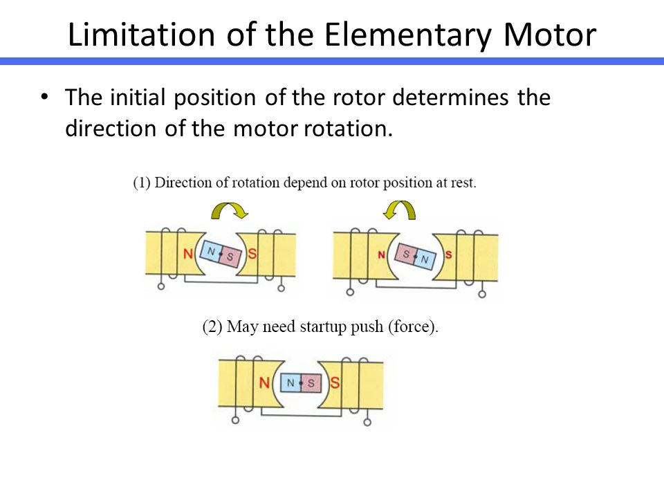 Limitation of the Elementary Motor
