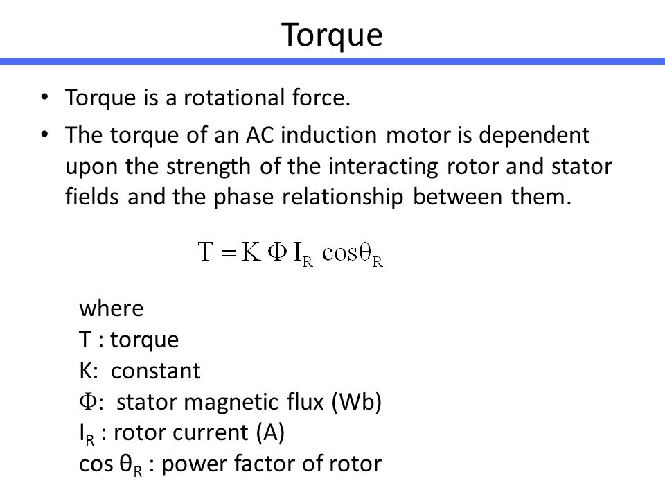 Torque Torque is a rotational force.