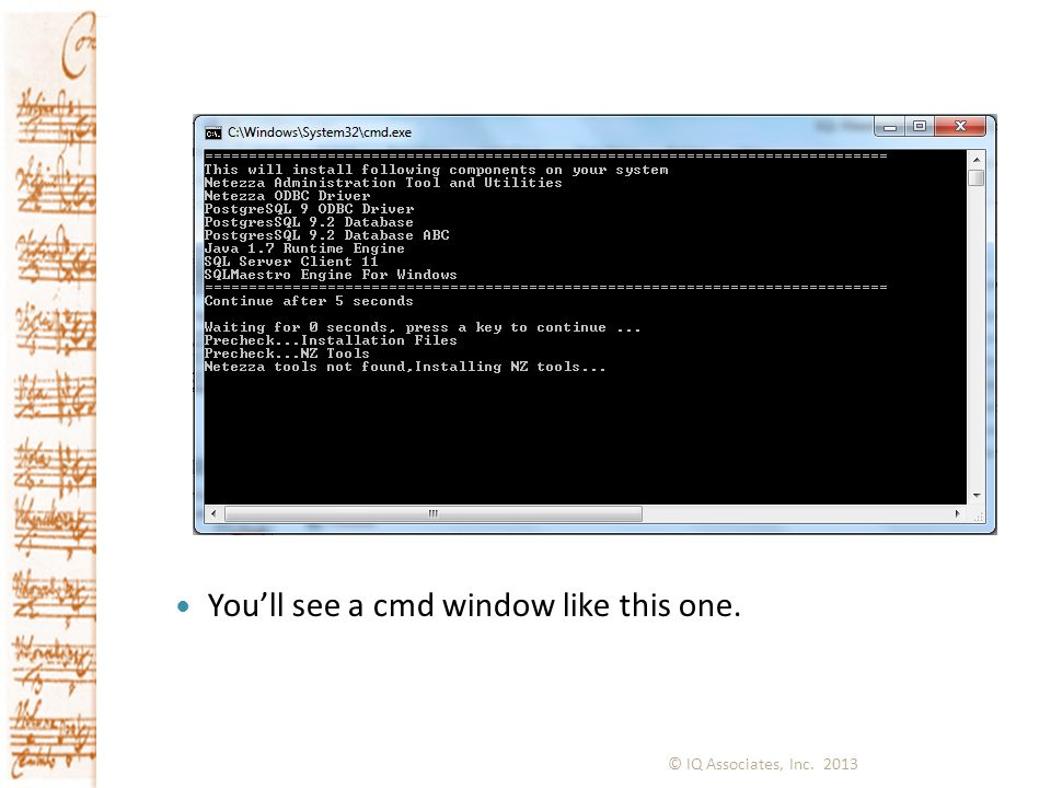 You'll see a cmd window like this one.