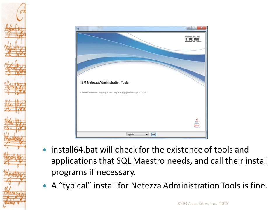 A typical install for Netezza Administration Tools is fine.