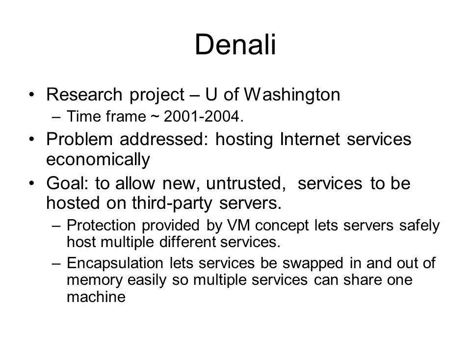 Denali Research project – U of Washington