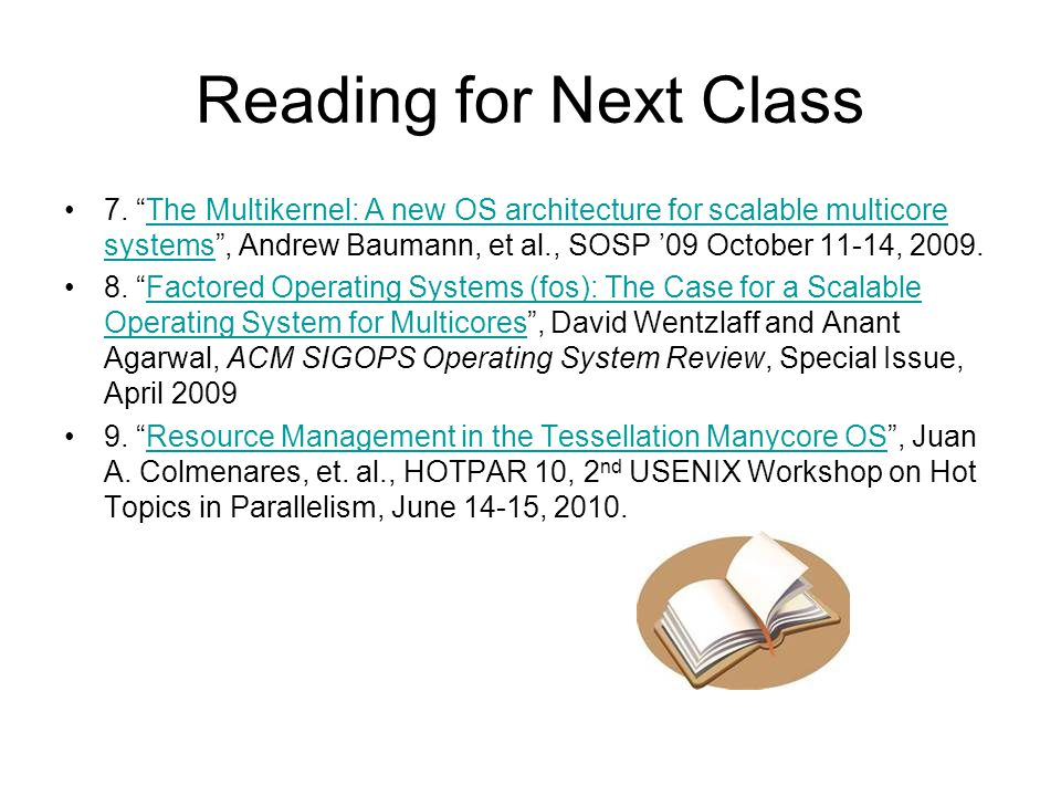 Reading for Next Class