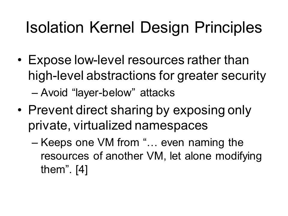 Isolation Kernel Design Principles