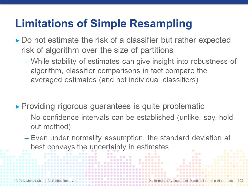 Limitations of Simple Resampling
