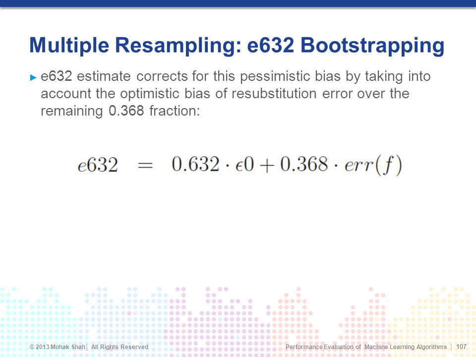 Multiple Resampling: e632 Bootstrapping