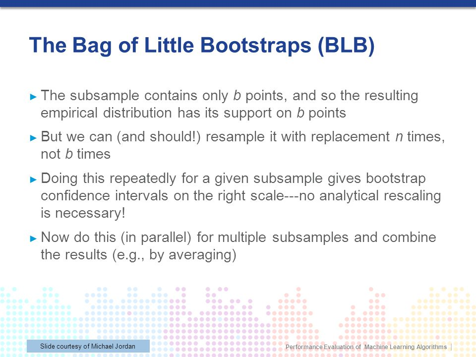 The Bag of Little Bootstraps (BLB)