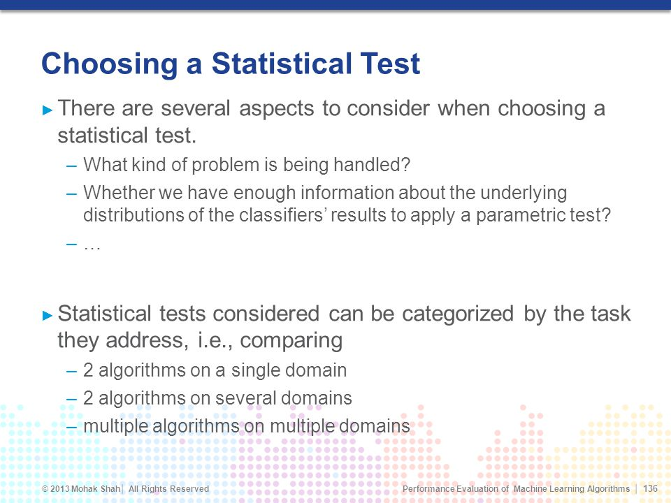 Choosing a Statistical Test