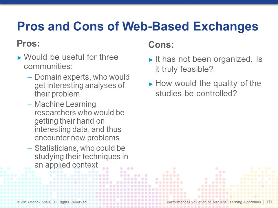 Pros and Cons of Web-Based Exchanges