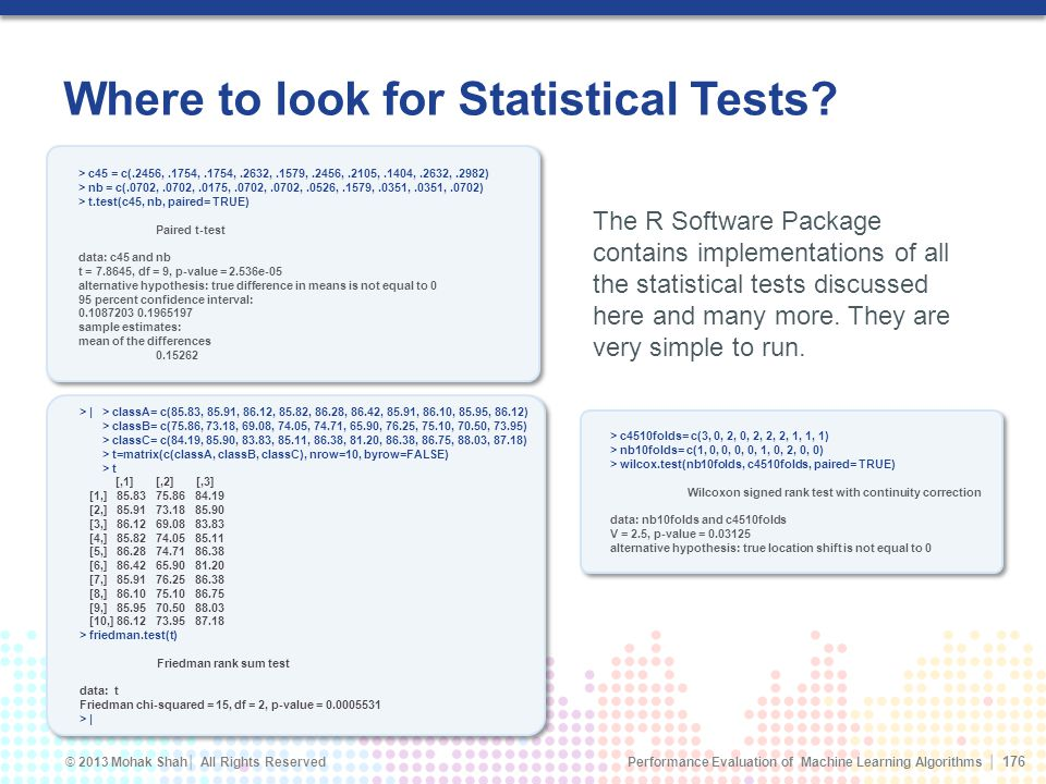 Where to look for Statistical Tests