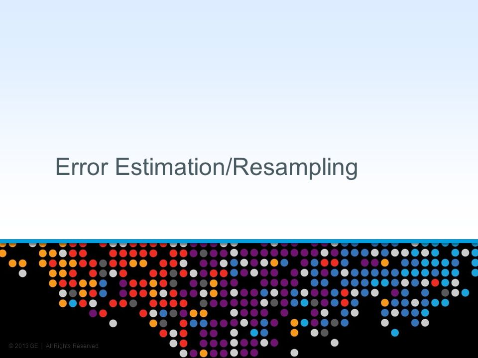 Error Estimation/Resampling