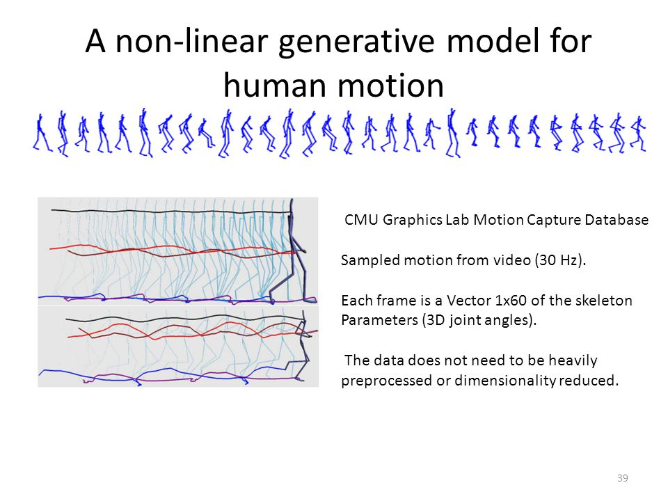 A non-linear generative model for human motion