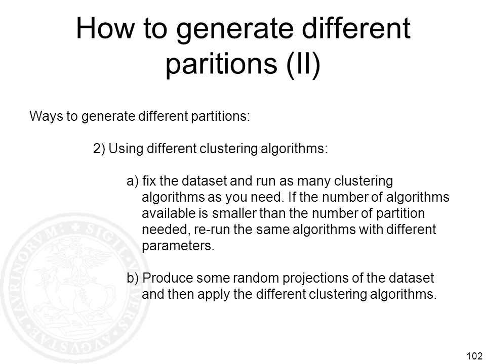 How to generate different paritions (II)